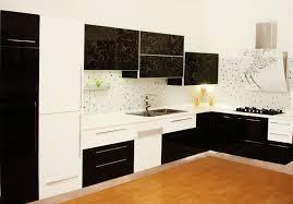 meuble de cuisine noir meuble cuisine noir et blanc en photo