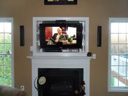 tv over fireplace heat photo articles with mounting led tv above