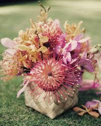 wedding flowers oahu an orange and fuchsia outdoor destination wedding in hawaii