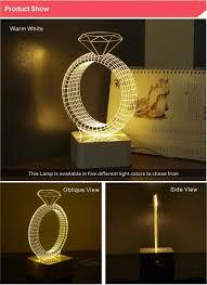 romantic lighting for bedroom cnhidee usb night lamp 3d crystal diamond acrylic romantic light