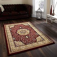 Heritage Unlimited Rugs Think Rugs Heritage 4400 Traditional Hand Carved Rug Red 160 X
