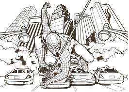 batman vs spiderman coloring book pages kids fun art in spider man