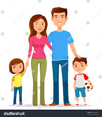 family colorful clothes stock vector 278705615