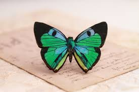 Blue And Green Butterfly - blue green butterfly ring large butterfly ring butterfly jewelry