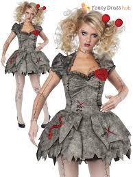League Legends Halloween Costume Ladies Twisted Broken Voodoo Doll Womens Zombie Halloween Fancy