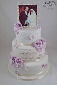 lilac anniversary cake silver wedding cake pinterest