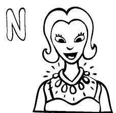 free alphabet n for necklaces coloring pages printable alphabet
