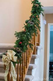 Decorating Banisters For Christmas Make Your Own Garland For Less Than 5 Unoriginal Mom
