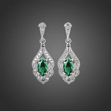 earrings online ireland maureen o hara drop earring green from newbridge silverware