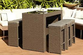 Outdoor Bar Setting Furniture by Rhodes Wicker Bar Setting Furniture Store