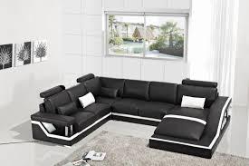 Black Sectional Sofas Leather Corner Sofas With Genuine Leather Sectional Sofa Modern