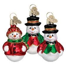 vintage snowman ornaments traditions