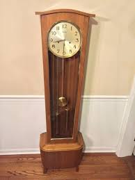 German Grandfather Clocks Vintage Daneker Modern Floor Grandfather Clock Model 33 Walnut