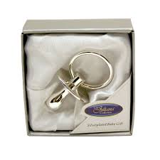 silver plated baby data dummy gift gift babies and birthdays