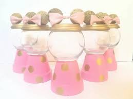 these elegant minnie mouse centerpiece in gold u0026 pink is perfect