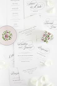 Wedding Invitation Bundles Vintage Script Wedding Invitations U2013 Complete Package U2013 Wedding