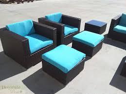 Wicker Table L 11pc Outdoor Patio Furniture Set Pe Wicker Rattan L Shape Sofa