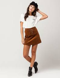corduroy skirt sky and sparrow lace up corduroy skirt camel 308357410 tillys
