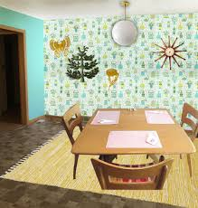 Wallpaper Designs For Dining Room Decorating Ideas For A Brown Brown And More Brown Kitchen Retro