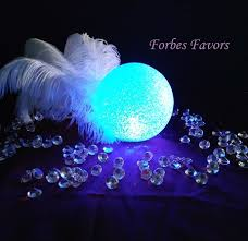 cocktail table centerpieces led orb globes multi color table decoration or event décor ostrich