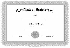 certificate of achievement free template 12 professional