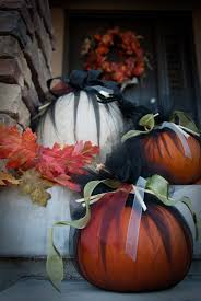 Halloween Tulle Fabric Tulle And Ribbon Dresses Up Pumpkins With No Carving Needed
