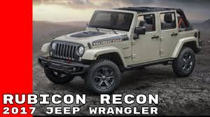 jeep off road silhouette 2017 jeep wrangler rubicon recon edition youtube
