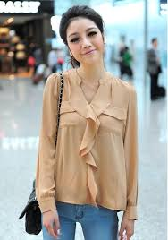 see thru blouse pics womens stand collar see through chiffon blouse shirt