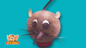 learn to make a rat with coconut arts u0026 crafts youtube