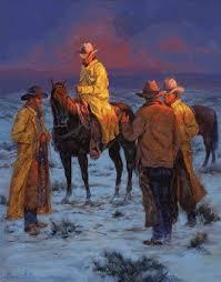 Wild West Home Decor Slicker Season U0027 By Artist Loma Dillon Western Art Wild Wild