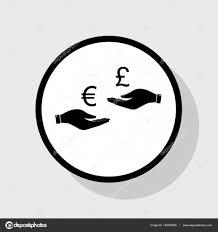 bureau de change livre sterling bureau de change de à et la livre sterling vector