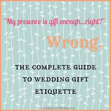 wedding gift etiquette allfreediyweddings