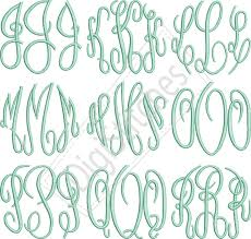 monogrammed fonts circle monogram embroidery font digistitches machine embroidery