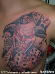 smoke now die later clown on chest