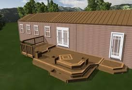 deck plans for mobile homes free home plan 14 decks decorating