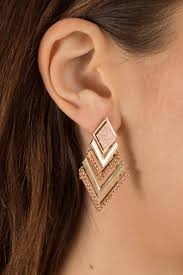 triangle earrings bermuda triangle gold earrings 8 tobi us