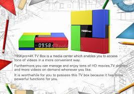 Led Tv Box Design T95k Pro Amlogic S912 Android 6 0 2g 16g Tv Box