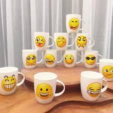 emoji ceramic mug cute cartoon face expression office coffee mug