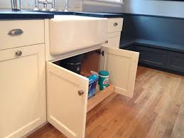 Kitchen Sinks Cabinets Custom White Cabinets With Farmhouse Sink Pull Out Under Kitchen