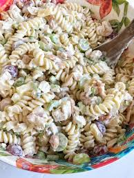 fruity cashew chicken pasta salad together as family