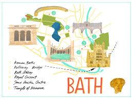 map uk bath bath map illustration lettering bausenhardt