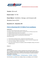2017 new download free microsoft 70 740 exam questions and