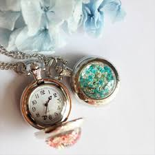 necklace pendant watch images Flower pocket watch necklace apollobox jpg