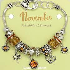 pandora style bead bracelet images Topaz november birthstone charm bracelet murano beads pandora jpg