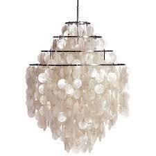 large white fun 0 dm shell capiz shell chandelier pendant