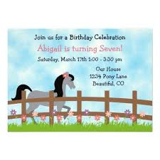 358 best horse birthday party invitations images on pinterest