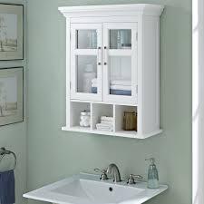 Black Bathroom Wall Cabinet Wyndenhall Two Door Bathroom Wall Cabinet With Cubbies In