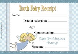 tooth fairy gift free tooth fairy certificate