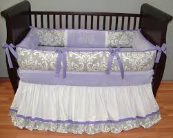 Gray Crib Bedding Sets by Purple Crib Bedding Sets For Baby Girls All Modern Home Designs