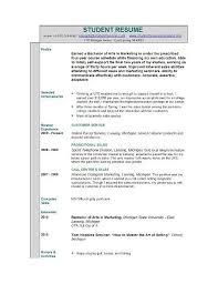 internship resume samples for college students sample resumes for